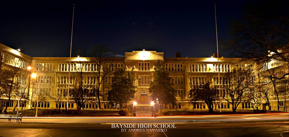 Bayside High School at Night captured by Andres Navarro